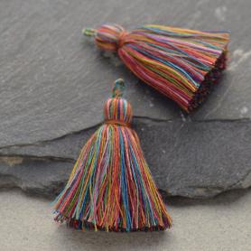 Cotton Tassel - Rainbow Jewelry Tassel