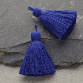 Cotton Tassel - Cobalt Jewelry Tassel