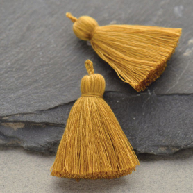 Cotton Tassel - Heather Ochre Jewelry Tassel