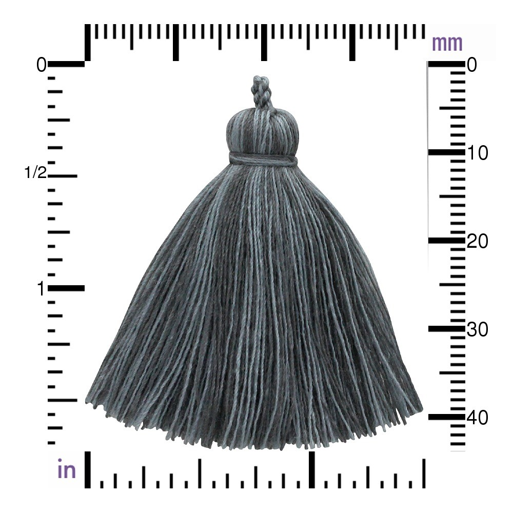 Cotton Tassel - Heather Gray Jewelry Tassel