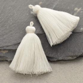 Cotton Tassel - White Jewelry Tassel