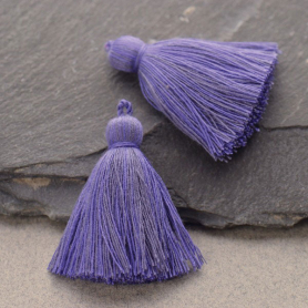 Cotton Tassel - Periwinkle Jewelry Tassel