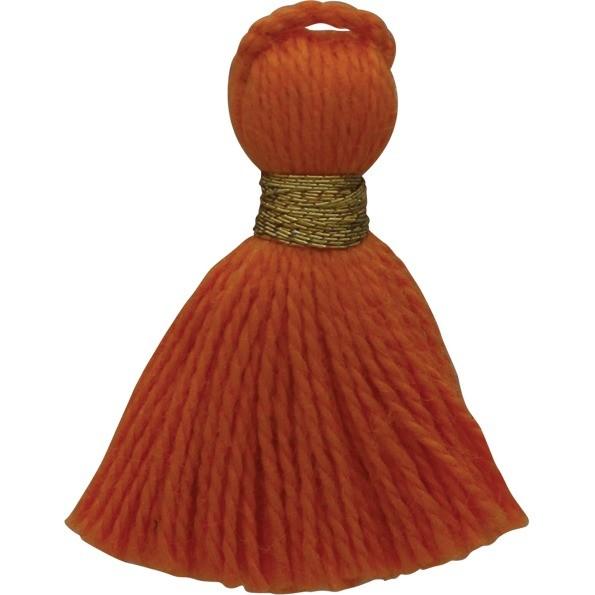 Cotton Mini Tassel - Orange Jewelry Tassel