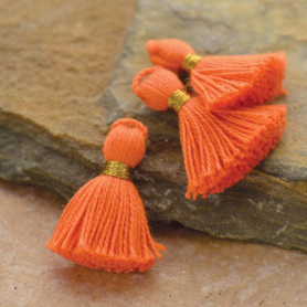 Cotton Mini Tassel - Orange Jewelry Tassel