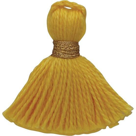 Cotton Mini Tassel - Sunshine Yellow Jewelry Tassel
