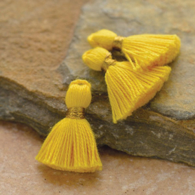 Cotton Mini Tassel - Sunshine Yellow Jewelry Tassel