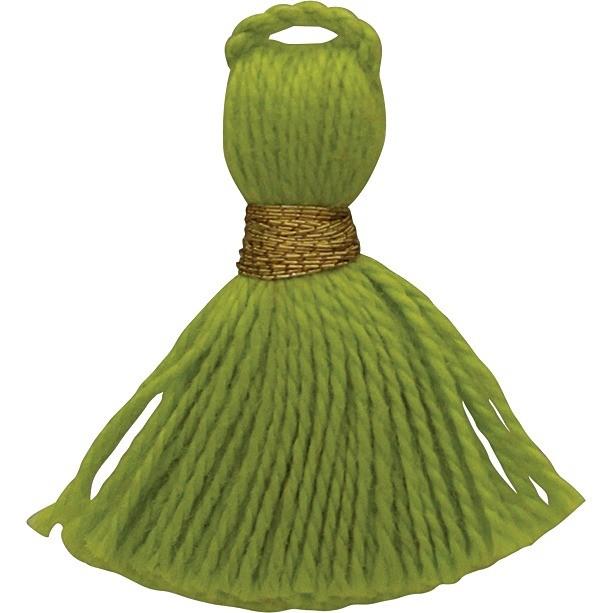 Cotton Mini Tassel - Lime Green Jewelry Tassel