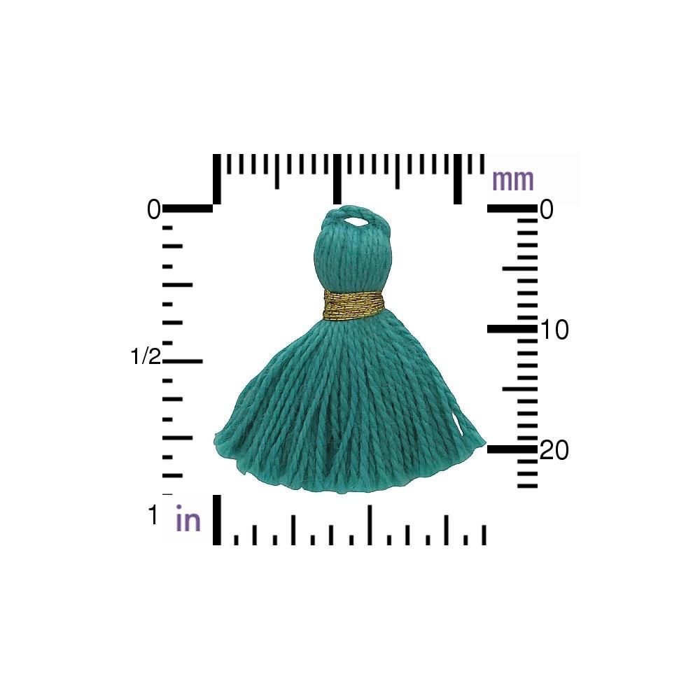 Cotton Min Tassel - Mint Turquoise Jewelry Tassel