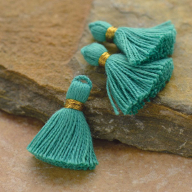 Cotton Min Tassel - Mint Turquoise Jewelry Tassel
