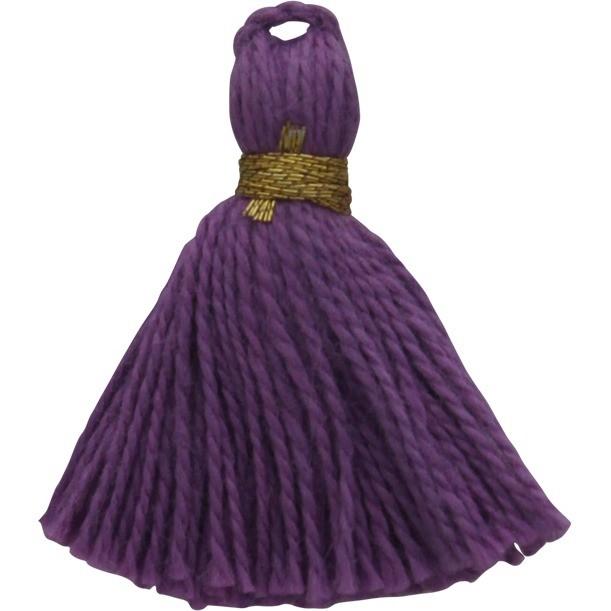 Cotton Mini Tassel - Amethyst Purple Jewelry Tassel