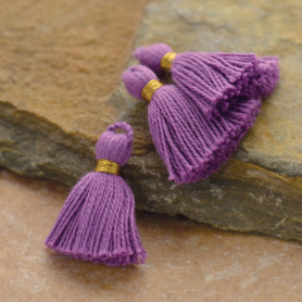 Cotton Mini Tassel - Amethyst Purple Jewelry Tassel