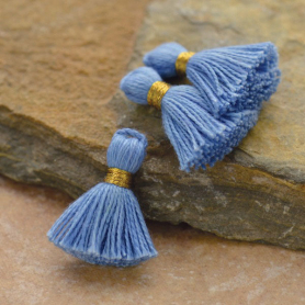Cotton Mini Tassel - Sky Blue Jewelry Tassel