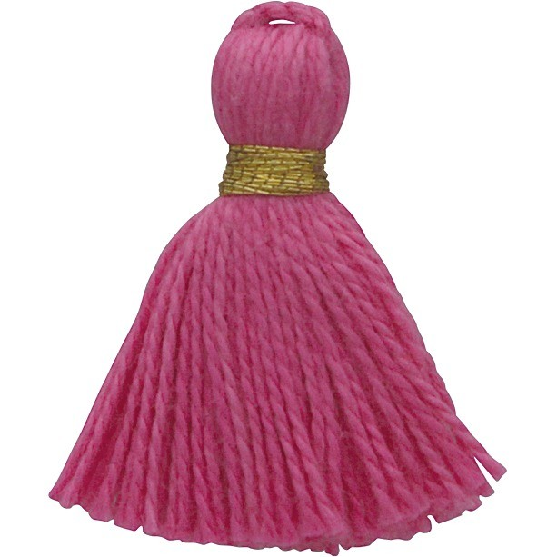 Cotton Mini Tassel - Bubble Gum Pink Jewelry Tassel