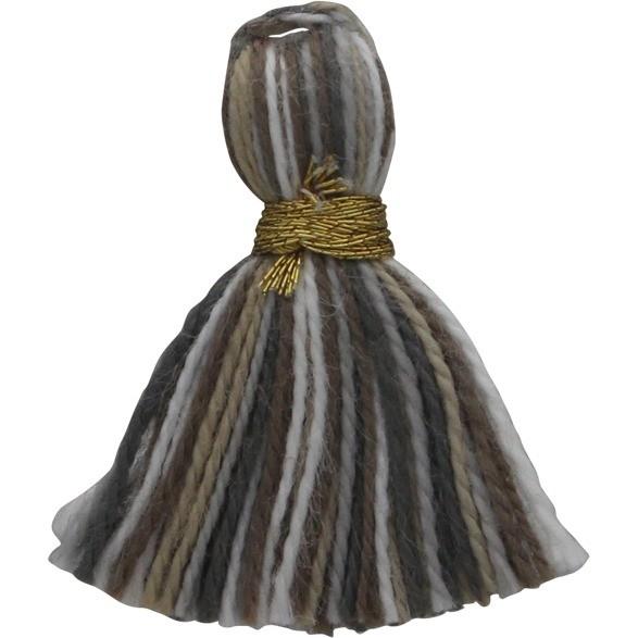 Cotton Mini Tassel - Heather Gray Jewelry Tassel