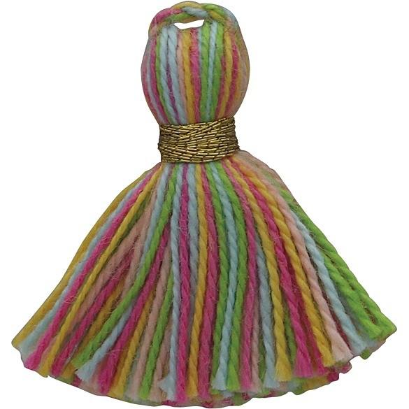 Cotton Mini Tassel - Rainbow Jewelry Tassel