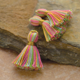 Cotton Mini Tassel - Rainbow Jewelry Tassel