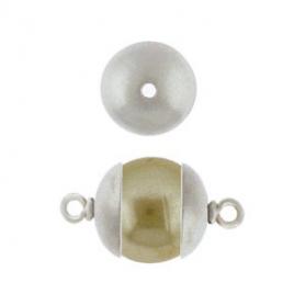 Plain Bead Cap - Matte Silver Bead Cap