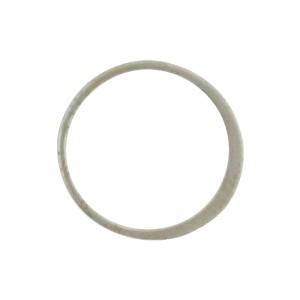 Matte Sterling Silver Half Hammered Circle Link 15mm