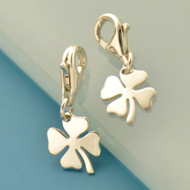 Silver Four Leaf Clover Charm with Clasp DISCONTINUED