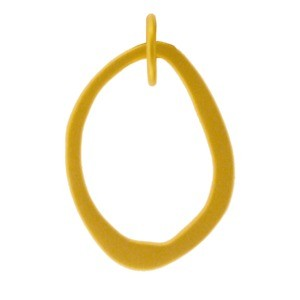 Gold Charm- Small Abstract Charm with 24K Gold Plate 22x14mm