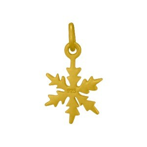 Satin 24KGold Plated Snowflake Charm 18x10mm