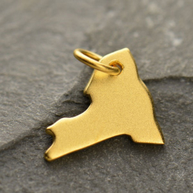 Gold Charm - New York with 24K Gold Plate DISCONTINUED