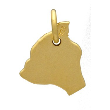 Gold Charm - Hawaii with 24K Gold Plate