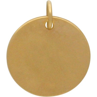 Gold Charms - Gemini Constellation with 24K Gold Plate