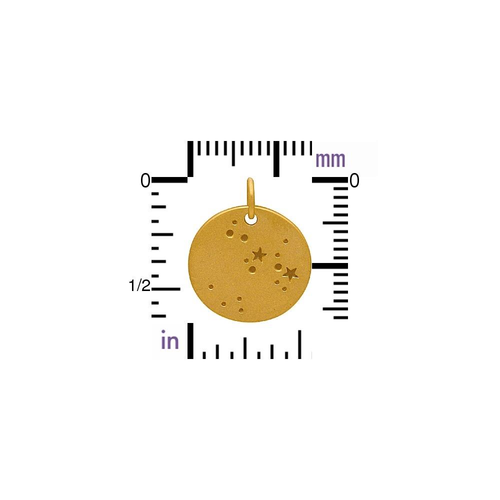 24K Gold Plated Sagittarius Constellation Charm 18x15mm