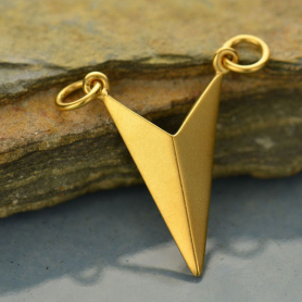 Chevron Pendant Link in 24K Gold Plate DISCONTINUED