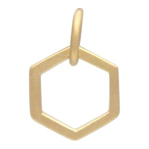 24K Gold Plated Single Honeycomb Charm -12mm