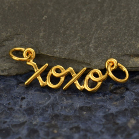 Cursive XOXO Pendant Link in 24K Gold Plate DISCONTINUED