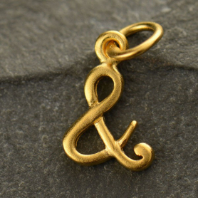 Gold Charm - Ampersand with 24K Gold Plate DISCONTINUED