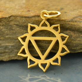 Gold Charm - Solar Plexus Chakra with 24K Gold Plate