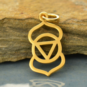Gold Charm - Third Eye Chakra with 24K Gold Plate