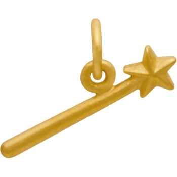 Gold Charms - Magic Wand in 24K Gold Plate DISCONTINUED