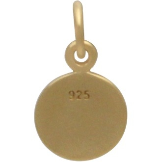 Gold Charm - Small Dandelion in 24K Gold Plate