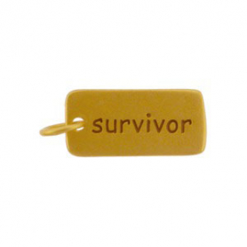 Gold Charms - Survivor with 24K Gold Plate DISCONTINUED