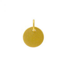 Gold Charms - Sm Round Stamping Blank in 24K Gold Plate