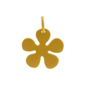 Gold Charms - Flat Daisy with 24K Gold Plate DISCONTINUED