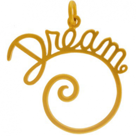 Gold Charm Holder - Dream with 24K Gold Plate DISCONTINUED