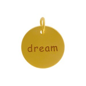 Round Dream Charm with 24K Gold Plate DISCONTINUED
