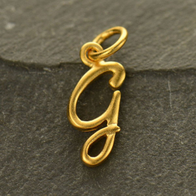 Gold Charms - Initial Charm Letter G