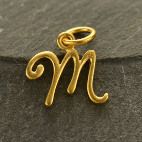 Gold Charms - Initial Charm Letter M