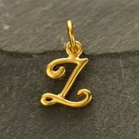Gold Charms - Initial Charm Letter Z