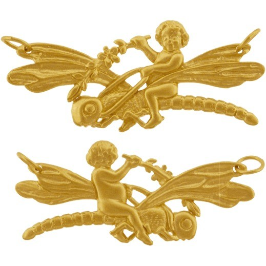 Sprite & Dragonfly w 24K Gold Plate DISCONTINUED