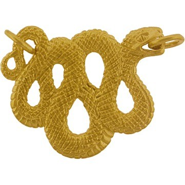 Textured Snake Festoon in 24K Gold Plate DISCONTINUED