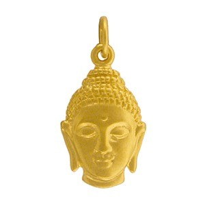 Gold Charms - Buddha Head in 24K Gold Plate 21x10mm
