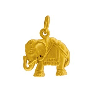 Gold Charms - Elephant with 24K Gold Plate 17x13mm