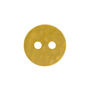 Hammered Two Hole Button with 24K Gold Plate DISCONTINUED